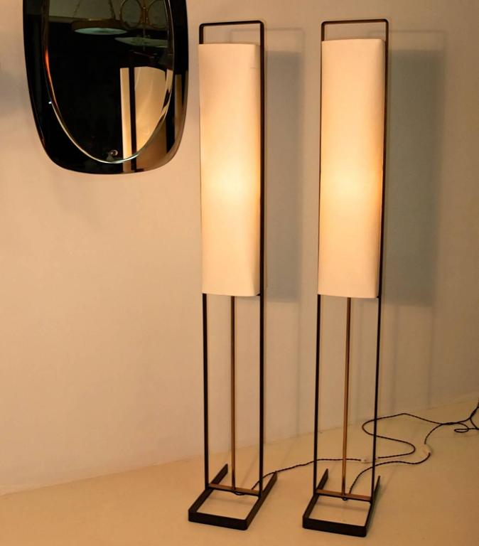 Pair of Floor Lamps Attributed to Jean Boris Lacroix 2