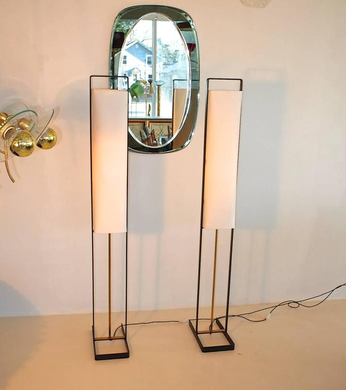 Pair of Floor Lamps Attributed to Jean Boris Lacroix 3