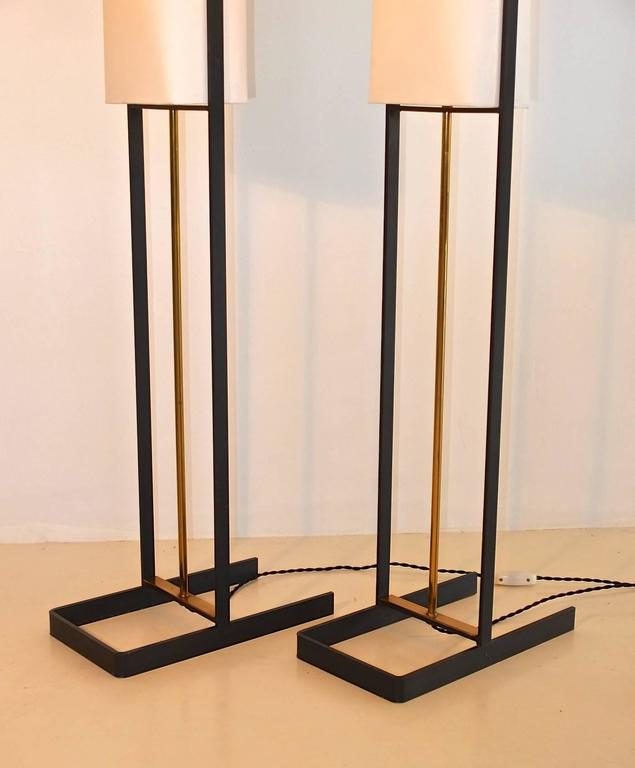Pair of Floor Lamps Attributed to Jean Boris Lacroix 5