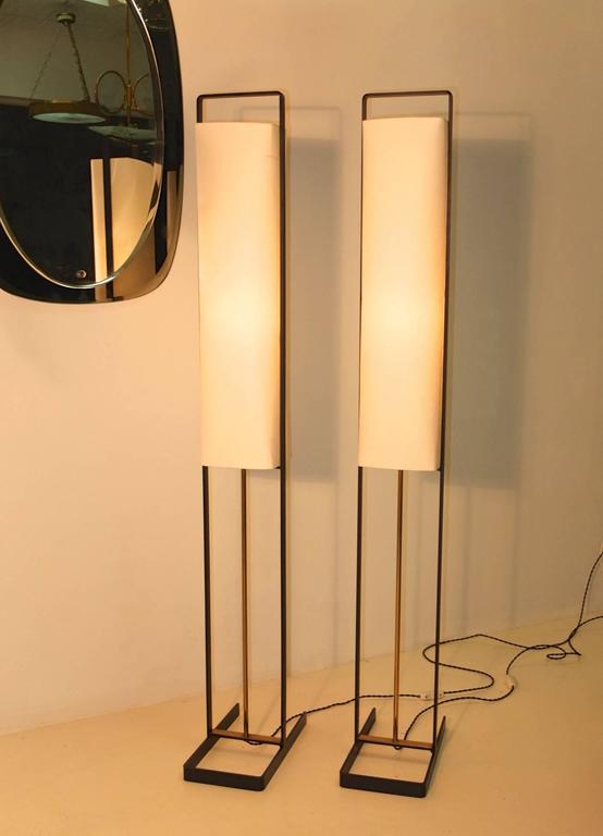 Pair of Floor Lamps Attributed to Jean Boris Lacroix 6