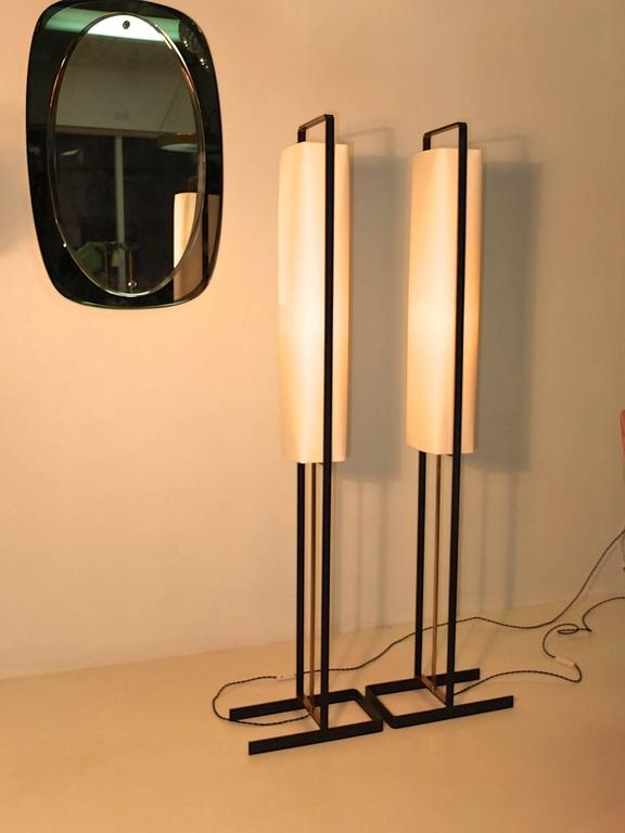 Pair of Floor Lamps Attributed to Jean Boris Lacroix 7