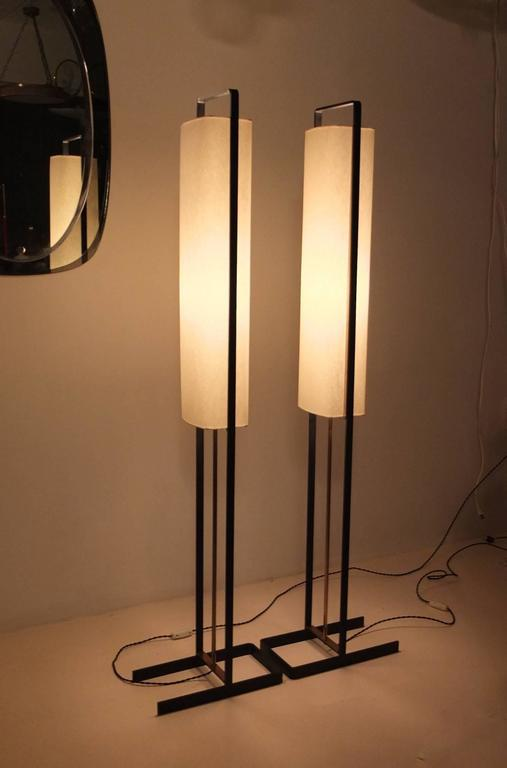 Pair of Floor Lamps Attributed to Jean Boris Lacroix 8