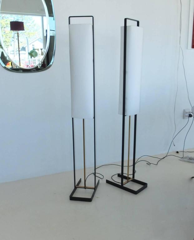 Pair of Floor Lamps Attributed to Jean Boris Lacroix 9