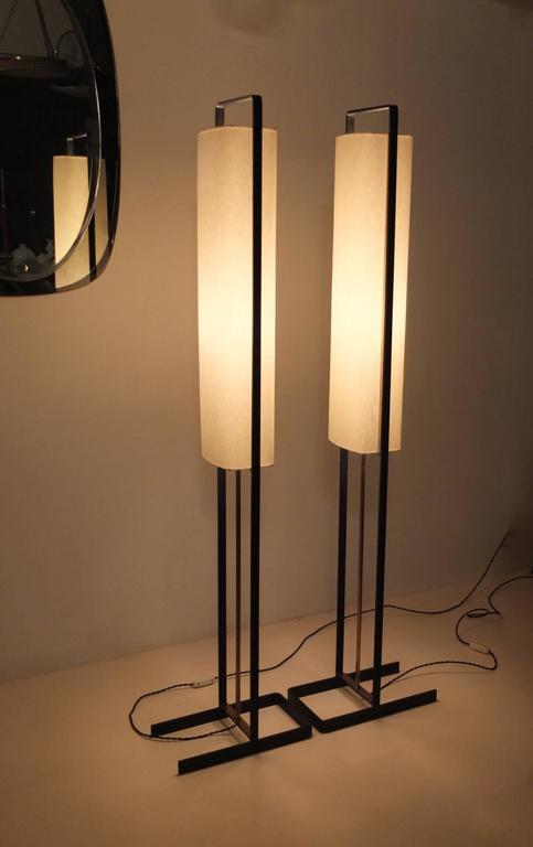 Pair of Floor Lamps Attributed to Jean Boris Lacroix 10