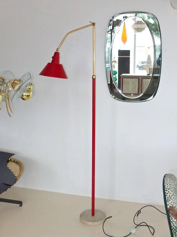 1950s Italian Articulating And Extending Floor Lamp For