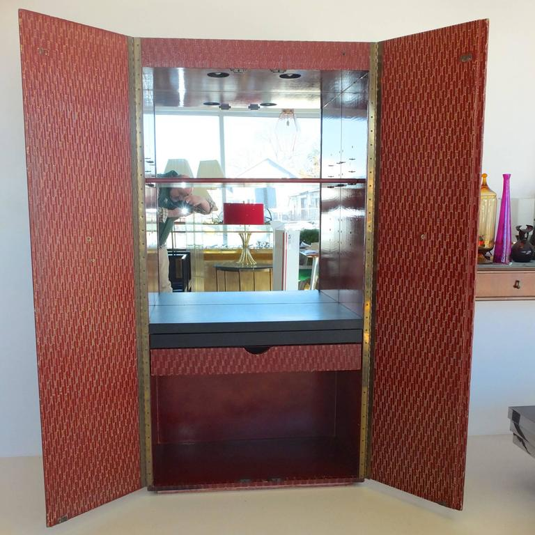 American Charak Modern Bar Cabinet For Sale