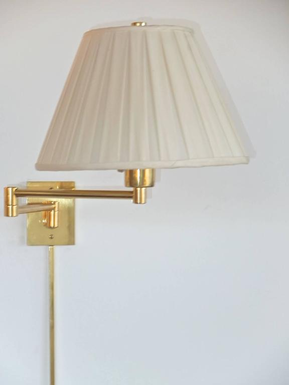 3 pair of georg w hansen brass 1706 double swing arm wall lamps for 3 pair of georg w hansen brass 1706 double swing arm wall lamps for sale mozeypictures Choice Image