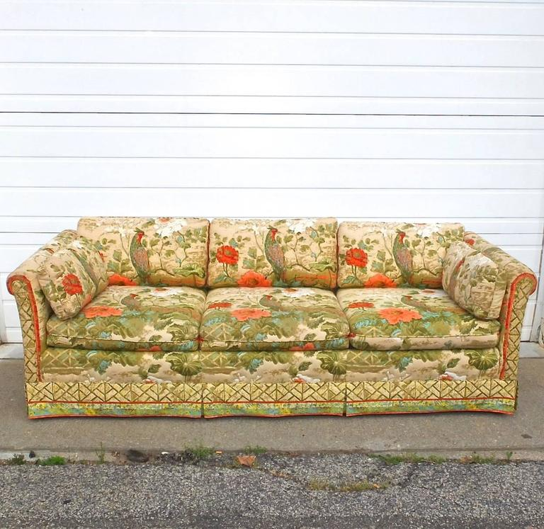SATURDAY SALE   I hope someone will write to tell me the name of this fabric which undoubtedly many will recognize and feel a twang of nostalgia for your parent's home, or grandparent's or someone for whom you feel a great deal of fondness.  These