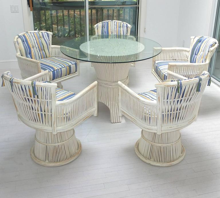 Saay California Modern Sun Room Dining Set With Table And Five Armchairs Off