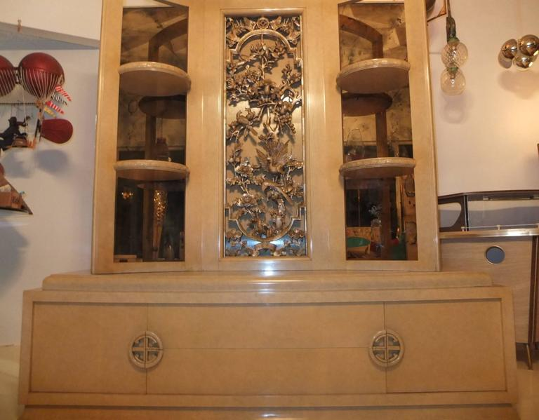 James Mont Console Cabinet In Excellent Condition For Sale In Hingham, MA