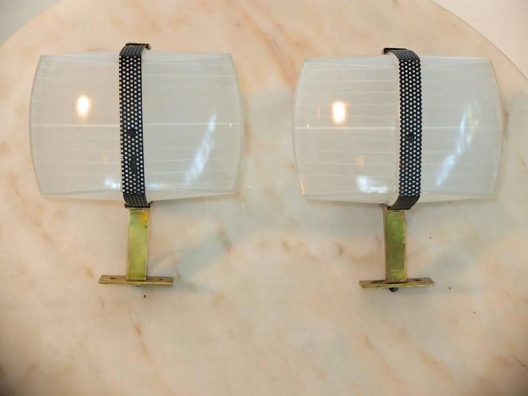 Mid-20th Century Pair of Omicron Sconces by Vico Magistretti for Artemide For Sale