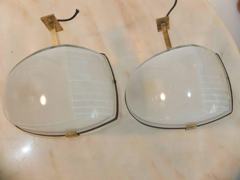 Pair of Omicron Sconces by Vico Magistretti for Artemide For Sale 1