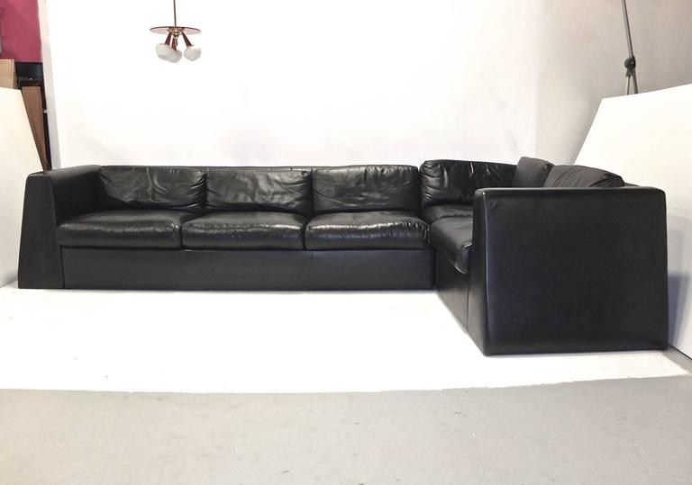 Juan Montoya Custom Dualoy Leather Sleeper Sofa Sectional