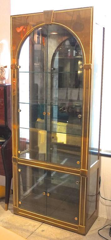 American Mastercraft Brass Vitrine For Sale