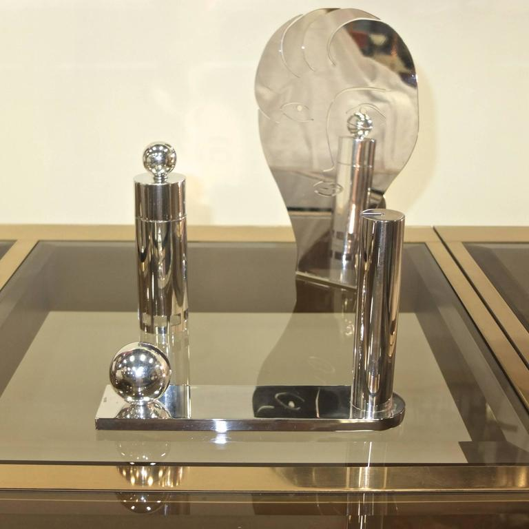 Late 20th Century Richard Meier for Swid Powell Silver Plated Peppermill For Sale