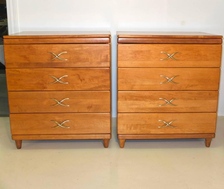 Pair of Paul Frankl Four-Drawer Chests for Brown Saltman 2