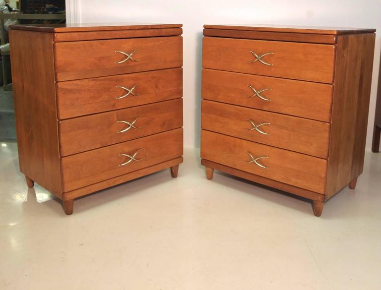 Pair of Paul Frankl Four-Drawer Chests for Brown Saltman 3