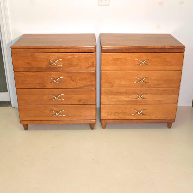 Pair of Paul Frankl Four-Drawer Chests for Brown Saltman 7