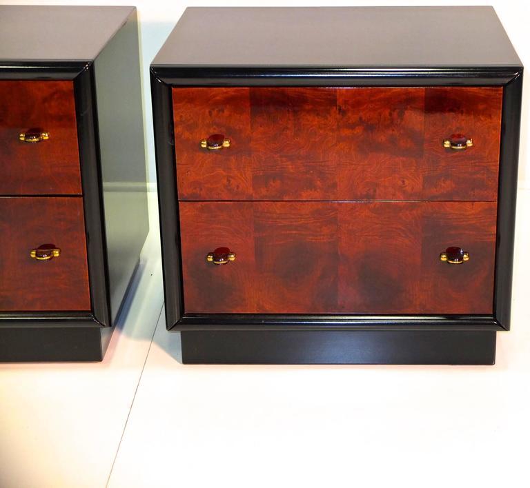 Restored Pair of Henredon Scene Three Nightstands For Sale 2