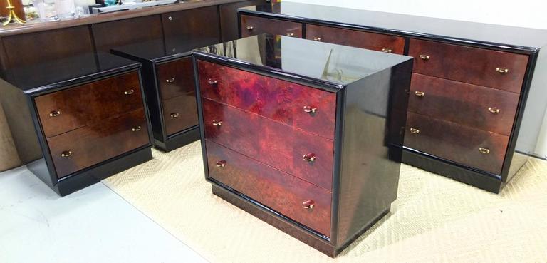 Restored Pair of Henredon Scene Three Nightstands For Sale 4