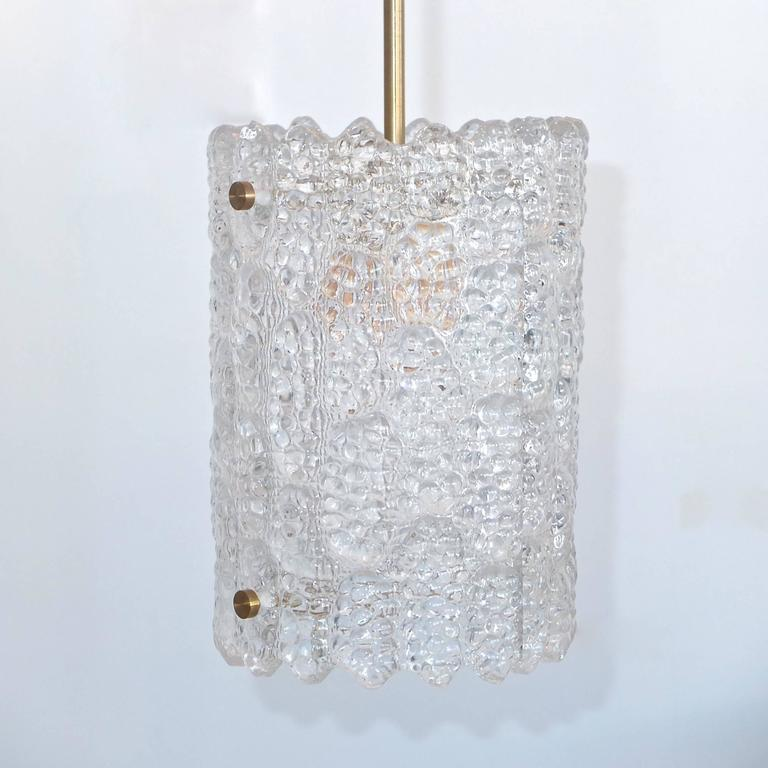 Carl Fagerlund for Orrefors Sweden Crystal Pendant In Excellent Condition For Sale In Hingham, MA