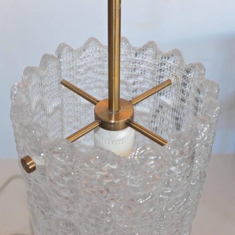 Scandinavian Modern Carl Fagerlund for Orrefors Sweden Crystal Pendant For Sale