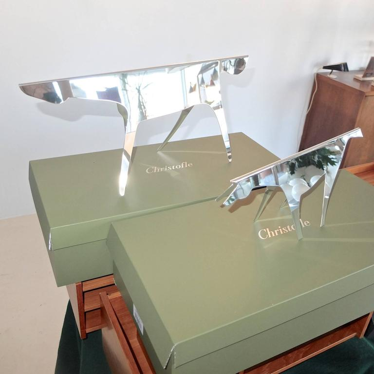 gio ponti horse and foal silver sculpture with lino sabattini for christofle for sale at 1stdibs. Black Bedroom Furniture Sets. Home Design Ideas