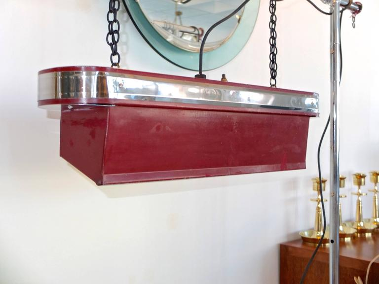 Mid-20th Century Streamline Art Deco Horizontal Hanging Light For Sale
