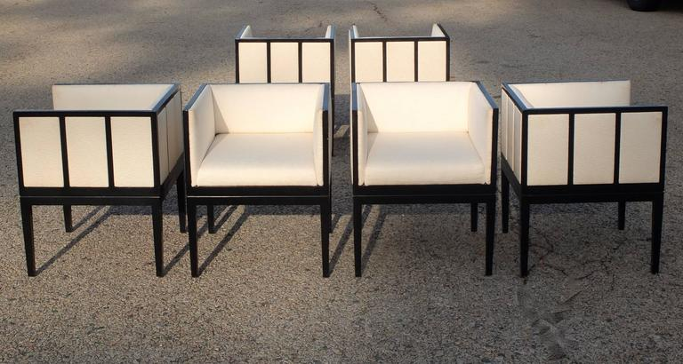 Eight Custom Dining Chairs by Juan Montoya For Sale 9