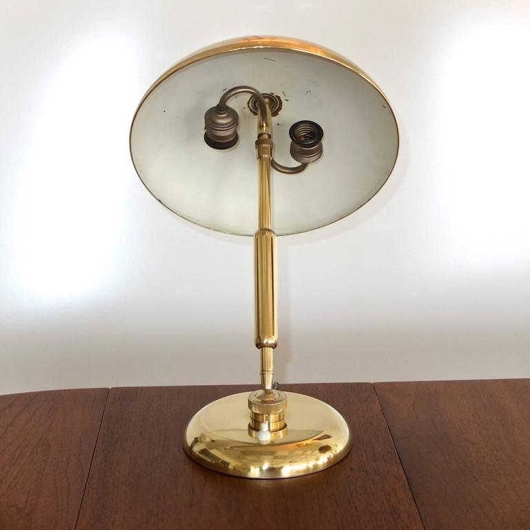 1940s, Italian Brass Articulating Ministerial Lamp 8