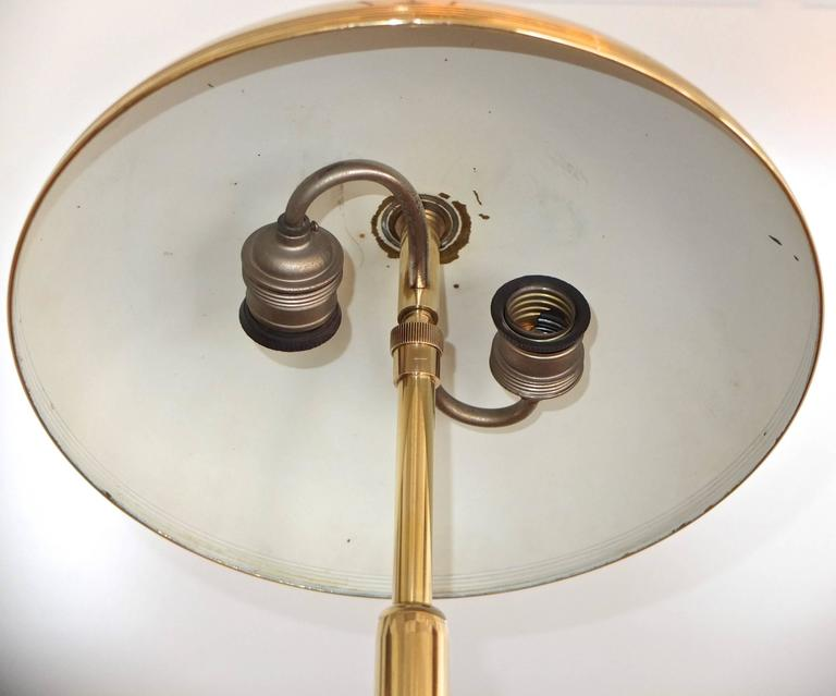 1940s, Italian Brass Articulating Ministerial Lamp 9