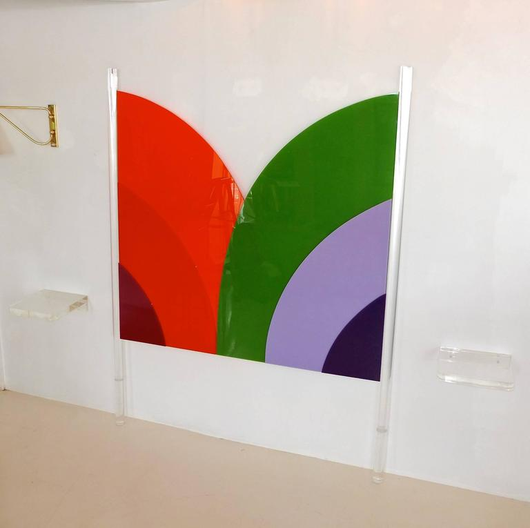 Frank Stella Style Lucite Headboard, Queen/Full 7