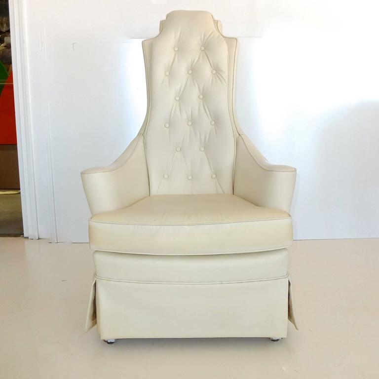Hollywood Regency High Back Lounge Chair 2