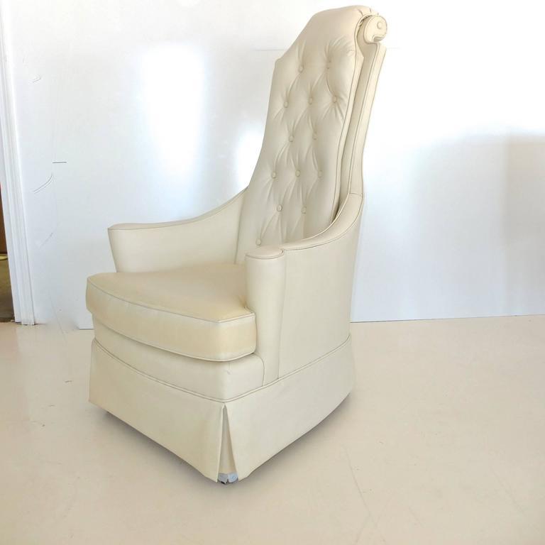 Hollywood Regency High Back Lounge Chair 4