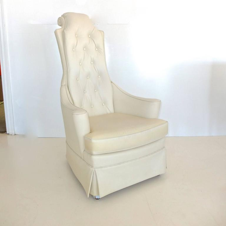 Hollywood Regency High Back Lounge Chair 7