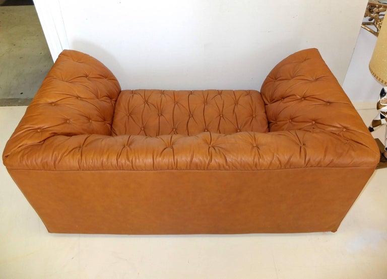 1970 S Italian Tufted Leather Sofa By Ambienti Bernini For