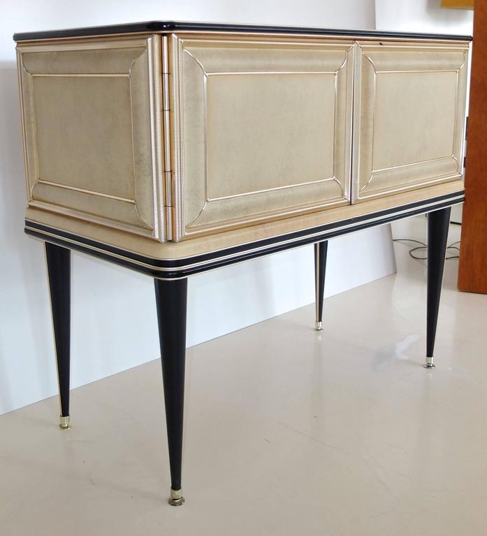 Umberto Mascagni Two-Door Bar Cabinet Sideboard In Excellent Condition For Sale In Hingham, MA