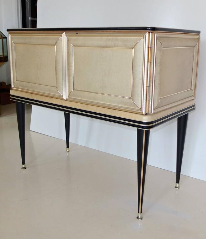 Mid-20th Century Umberto Mascagni Two-Door Bar Cabinet Sideboard For Sale