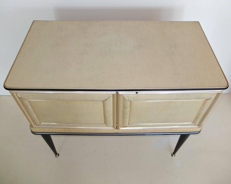 Italian Umberto Mascagni Two-Door Bar Cabinet Sideboard For Sale