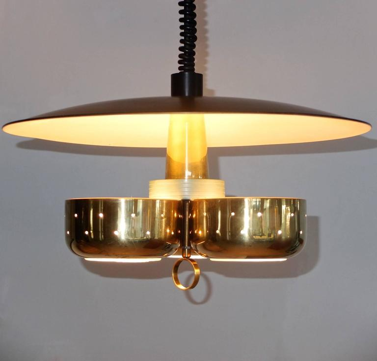 Gerald Thurston for Lightolier Pull-Down Pendant In Excellent Condition For Sale In Hingham, MA