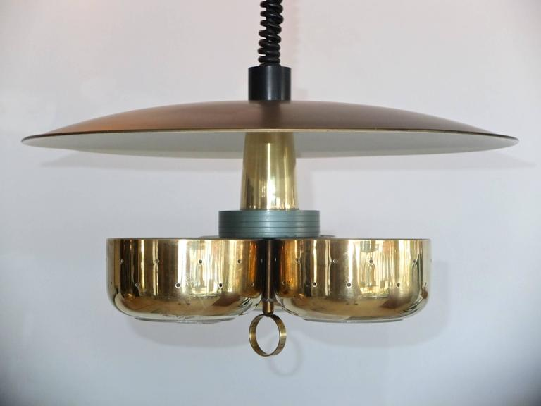 Mid-20th Century Gerald Thurston for Lightolier Pull-Down Pendant For Sale