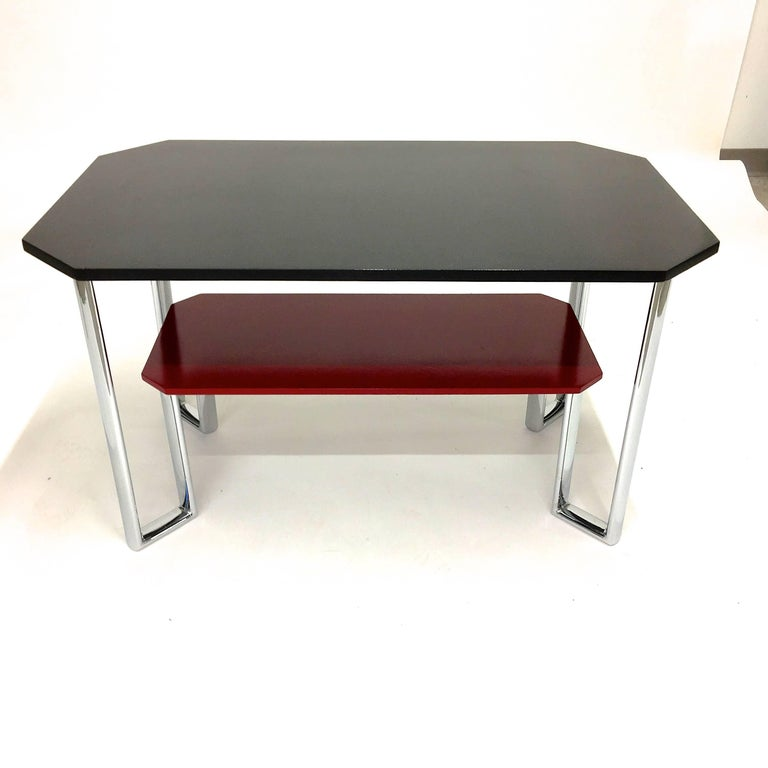 Bauhaus Two-Tier Chromium & Cellulosed Table from Heal and Son, 1931 For Sale 3