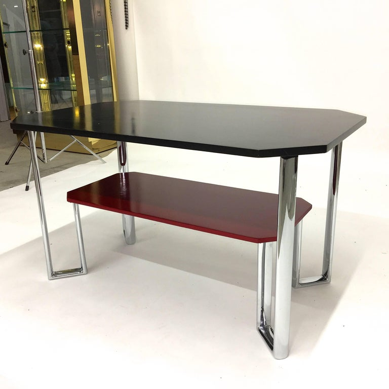 Bauhaus Two-Tier Chromium & Cellulosed Table from Heal and Son, 1931 For Sale 8