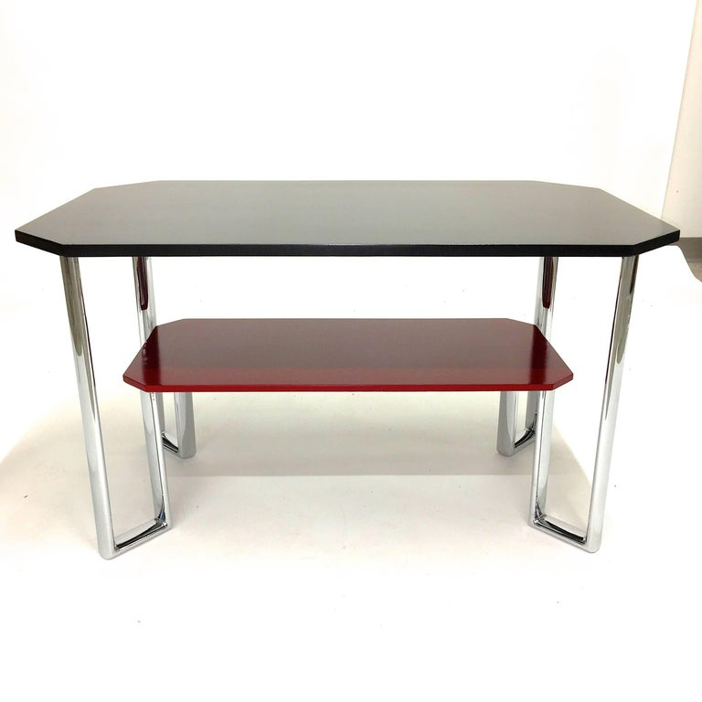 Bauhaus Two-Tier Chromium & Cellulosed Table from Heal and Son, 1931 For Sale 4