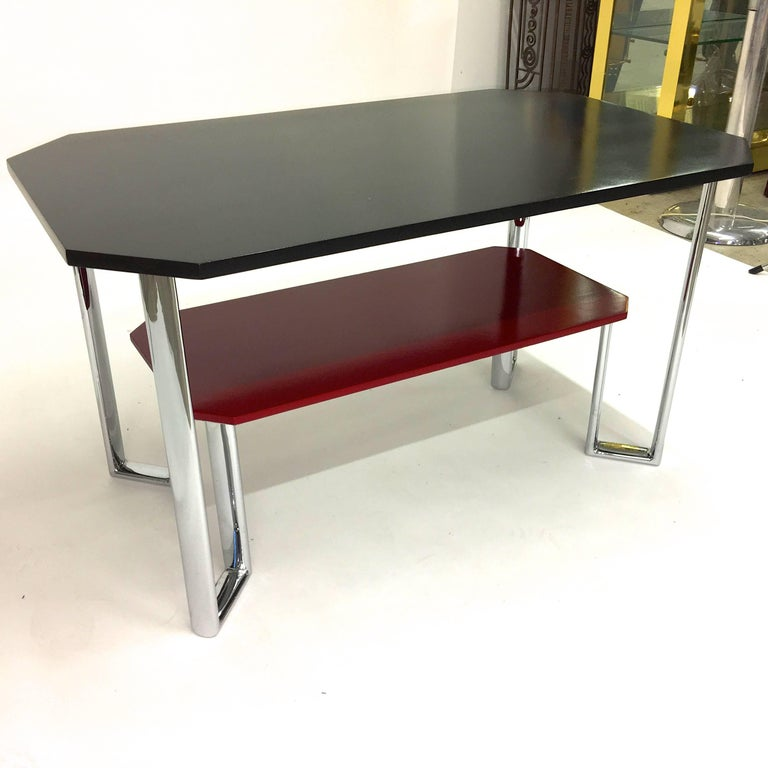 Bauhaus Two-Tier Chromium & Cellulosed Table from Heal and Son, 1931 For Sale 9