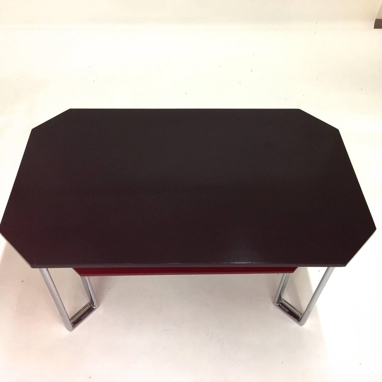 Bauhaus Two-Tier Chromium & Cellulosed Table from Heal and Son, 1931 For Sale 5