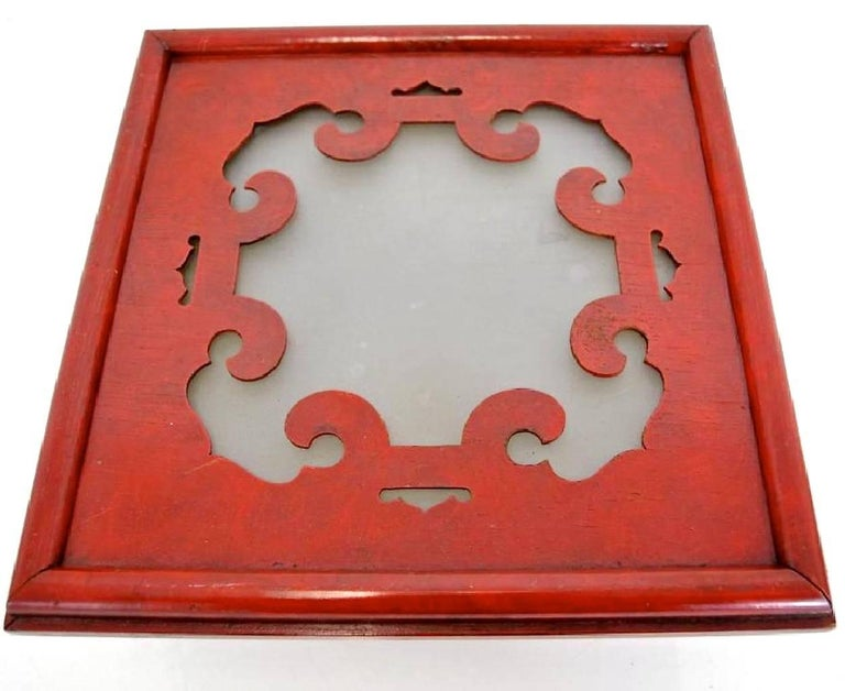 James Mont Cinnabar Lacquered Flush Mount Ceiling Light 2