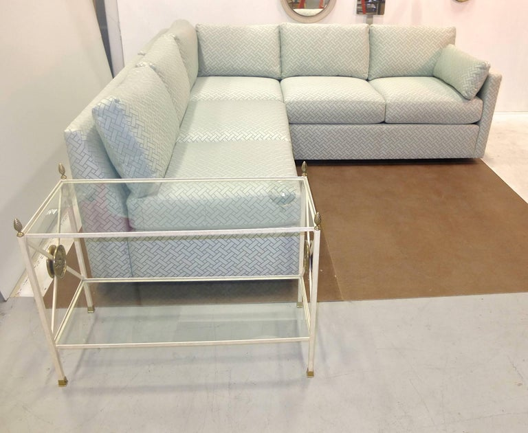 Milo Baughman Style Two-Piece Sectional Sofa L-Shaped 7