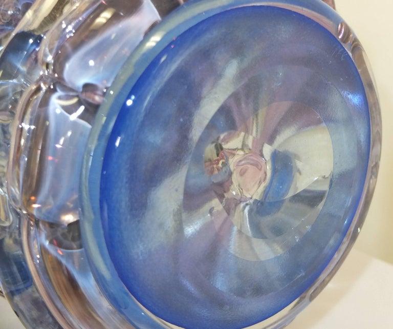 "Tom Philabaum Art Glass Vase from ""Handbuilt"" Series, 1987 9"