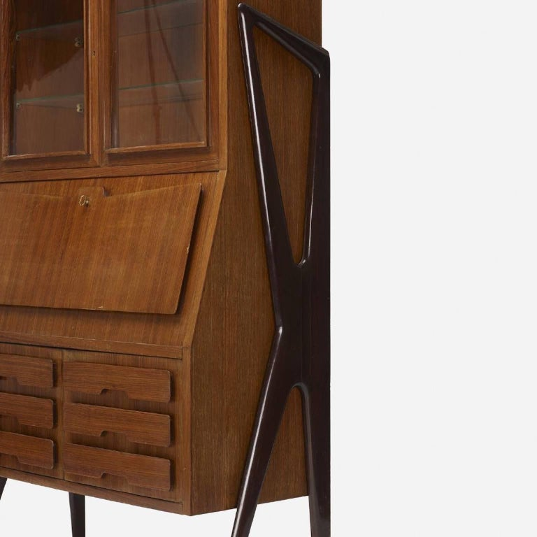 Mid-Century Modern Ico Parisi Attributed Bar Cabinet Secretary For Sale